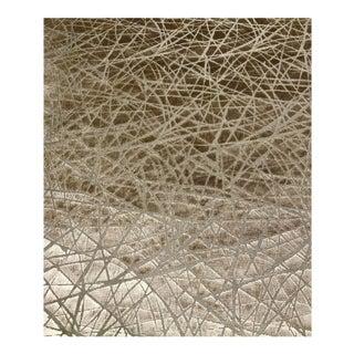 Linherr Hollingsworth for Kravet Parisio - Sand Taupe Designer Upholstery Cut Velvet Fabric - 9 Yards For Sale