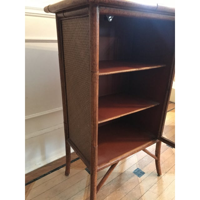 Wicker and Bamboo Maitland Smith Cabinet - Image 5 of 9