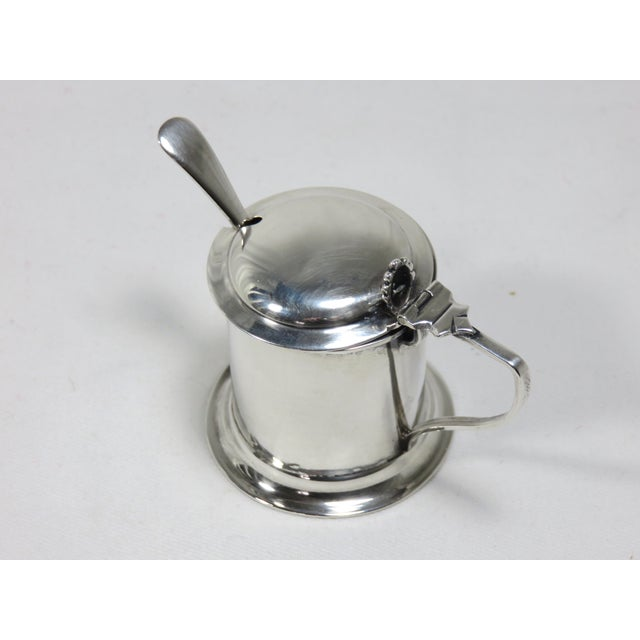 1900 - 1909 1900s Victorian Sterling Silver Mustard Pot For Sale - Image 5 of 8