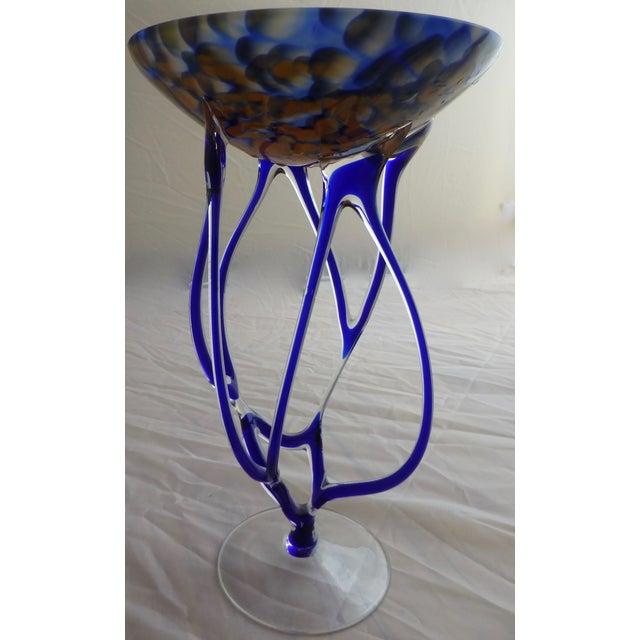 Josefina, Krosno Poland Footed Glass Compote - Image 3 of 8