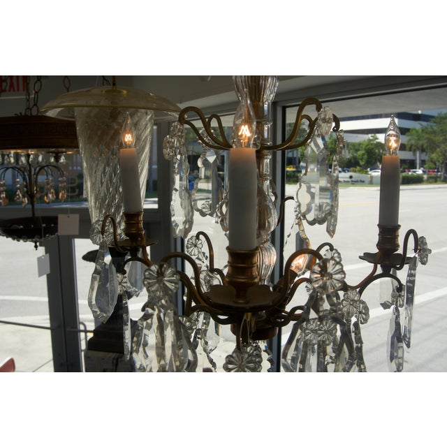 Mid 19th Century Louis XV Bronze & Hand-Cut Crystal Chandelier From France Circa 1850 For Sale - Image 5 of 9