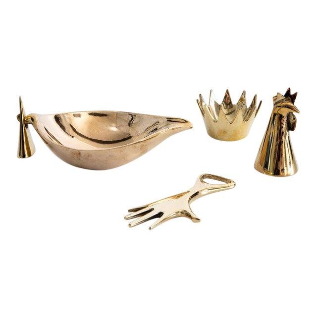Mid-Century Modern Carl Auböck Brass Objects - Set of 4 For Sale
