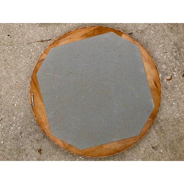 Vintage Natural Wicker Round Circle Mirror - Image 4 of 7
