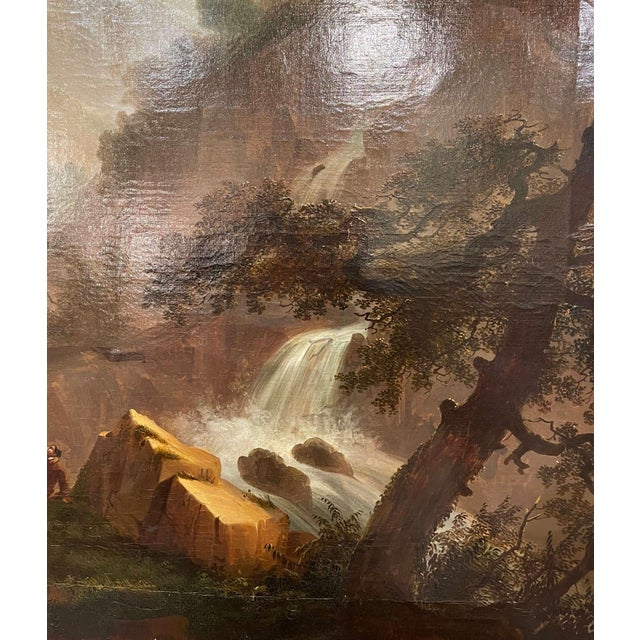 19th Century French Oil on Canvas Pastoral Painting in Carved Gilt Frame Signed For Sale - Image 10 of 13