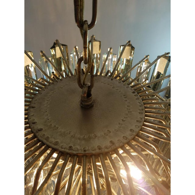 Transparent Mid-Century Modern Venini Clear & Dark Glass Chandelier For Sale - Image 8 of 11