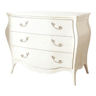 Cottage White Parchment Chest For Sale