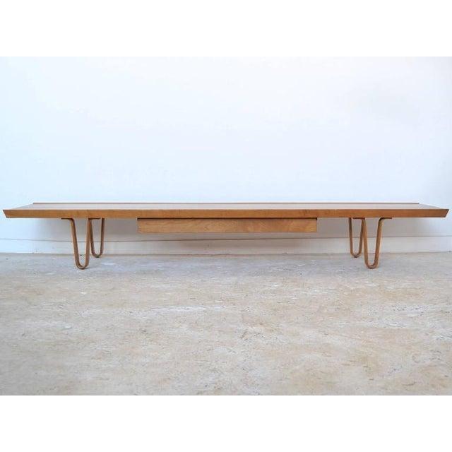 Edward Wormley Long John Bench/ Table by Dunbar - Image 9 of 9