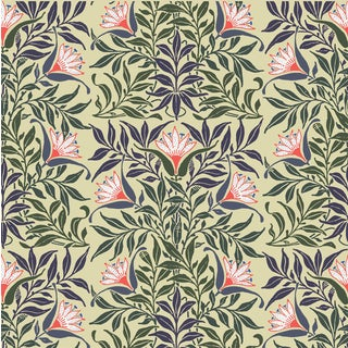 Flower Vine Wallpaper Roll Remnant by Mitchell Black Home For Sale
