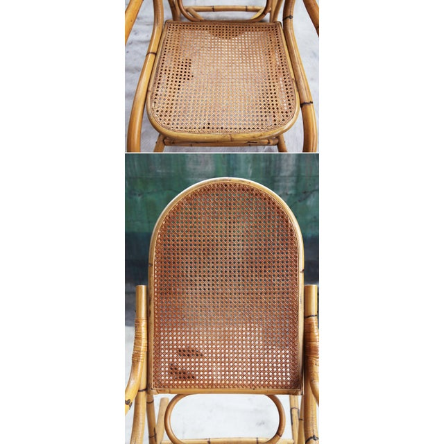 Mid-Century Hollywod Regency Boho Style Chic Rocking Chair For Sale - Image 10 of 11