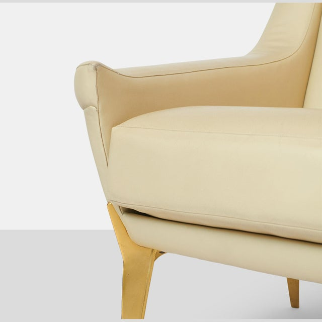 Animal Skin Pair of Lounge Chairs by Charles Ramos For Sale - Image 7 of 9