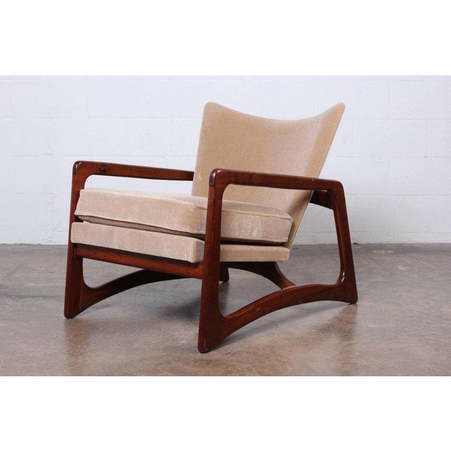 Craft Associates Pair of Lounge Chairs by Adrian Pearsall For Sale - Image 4 of 11