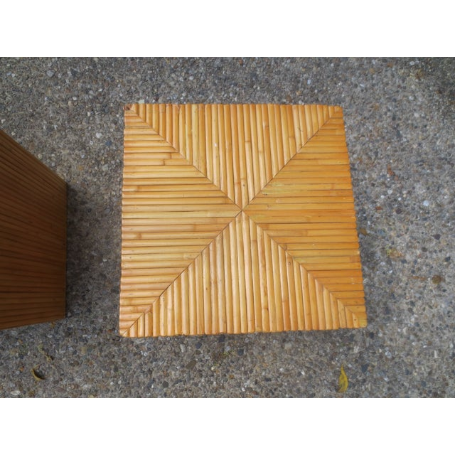 Vintage 1970s McGuire Bamboo End Tables - A Pair - Image 4 of 5