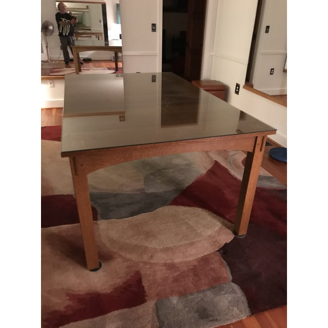 Wood Harvey Ellis for Stickley Furniture Dining Table With Inlay on Four Corners For Sale - Image 7 of 7