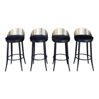 Modern Metal Barstools - Set of 2 For Sale