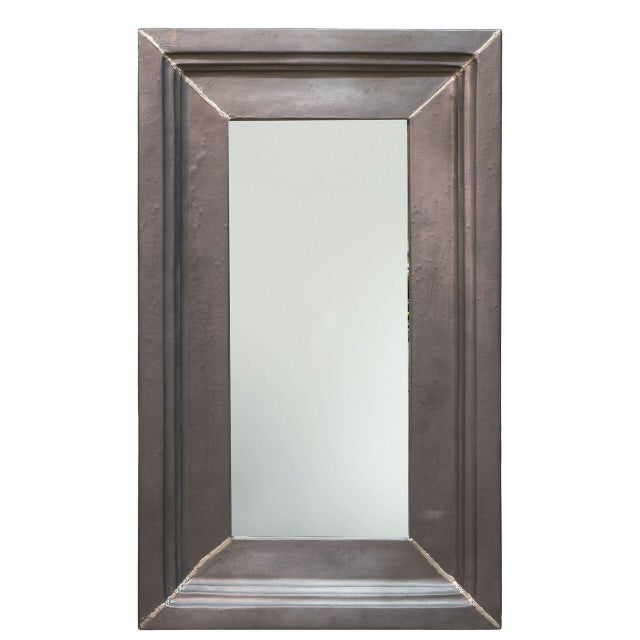 Estimated Retail Price: $834. Fabulous, sleek gray mirror with a polyresin frame. Such a simple piece will surely make a...