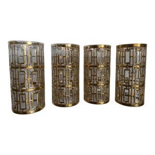 Imperial 24k High Ball Tumbler Sekai Glasses - Set of 4 For Sale