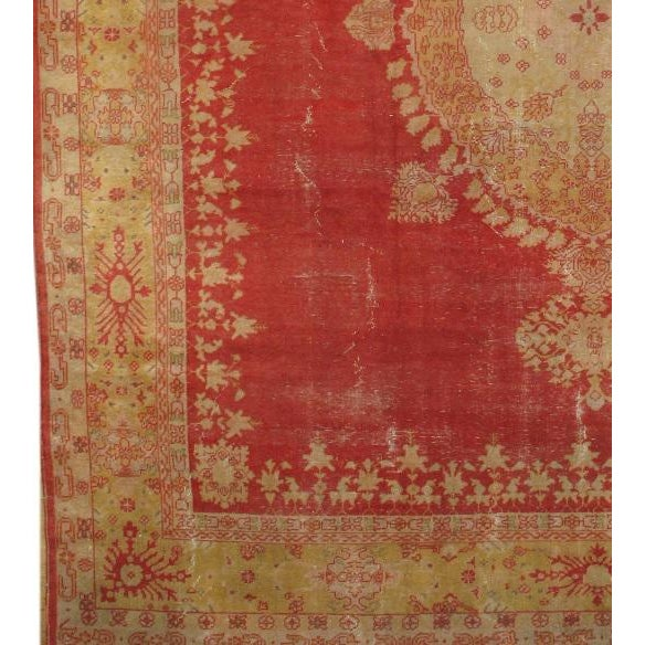 Original Turkish OUSHAK from Pasargad. Handmade Hand-knotted. Lamb's wool on a wool foundation. Circa 1880 With a striking...