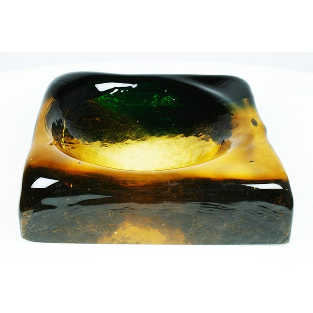 1960s Molded Murano Glass Ashtray Dish For Sale - Image 5 of 5