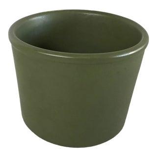 McCoy Floraline Matte Green Cylindrical Planter For Sale