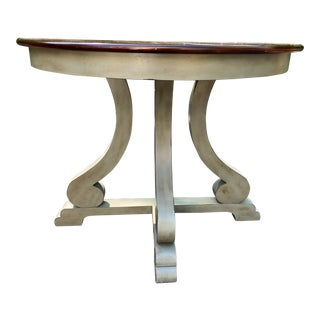 20th Century French Provincial Demi-Lune Table For Sale