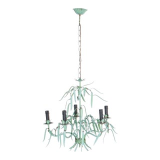 1970s French Botanical Chandelier For Sale
