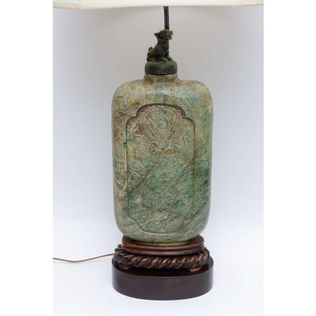 Wonderful scale and presence, an Asian aura and regal stature highlight this table lamp from the 40s. Large scale, this...