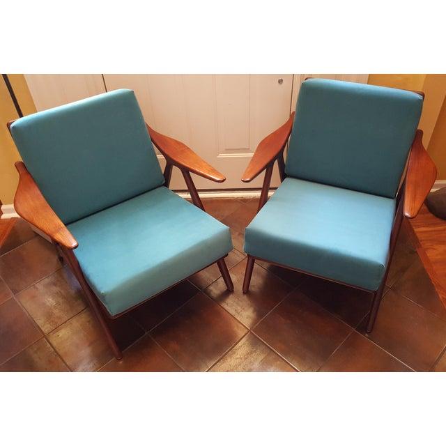 Danish Modern 1960s Danish Modern Hovmand Olsen Lounge Chairs - a Pair For Sale - Image 3 of 13
