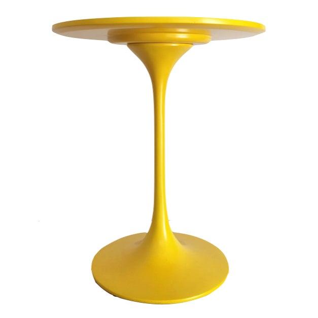 Saarinen Style Yellow Side Table - Image 1 of 2