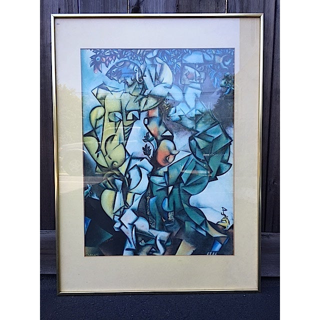 """Temptation"" Framed Print by Marc Chagall - Image 2 of 7"
