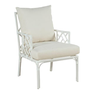 Modern Carlyle Outdoor Occasional Arm Chair For Sale
