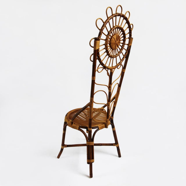 Tall Bamboo Sun Flower Chair - Image 3 of 8