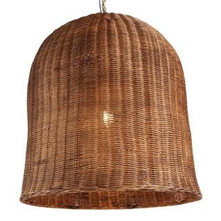 Coffee Stain Wicker Dome Lantern XL For Sale