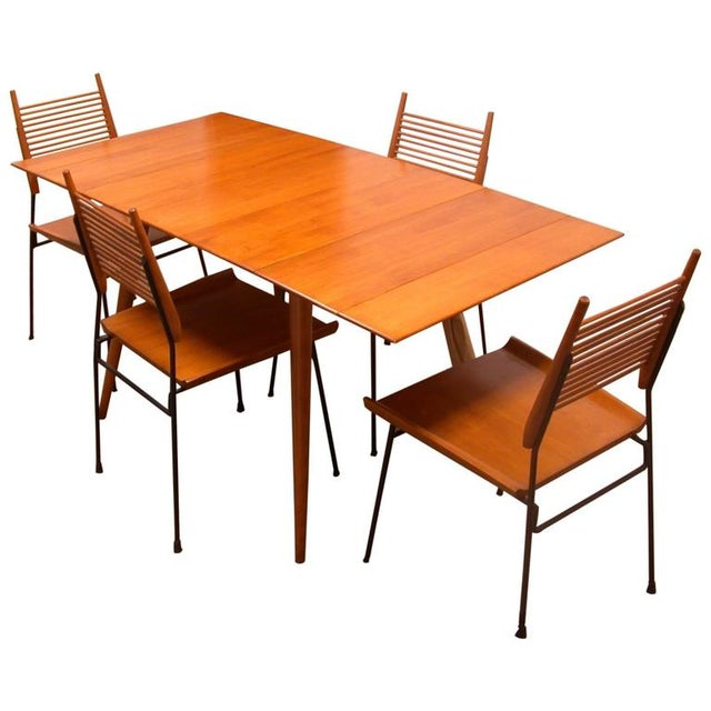 Vintage Paul McCobb Planner Group Dining Table Set - Image 1 of 2