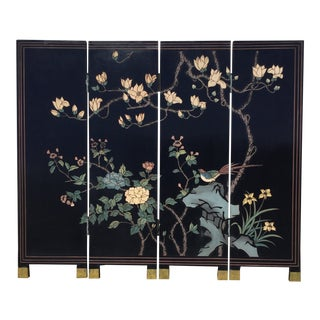 Asian 4 Panel Table Screen For Sale