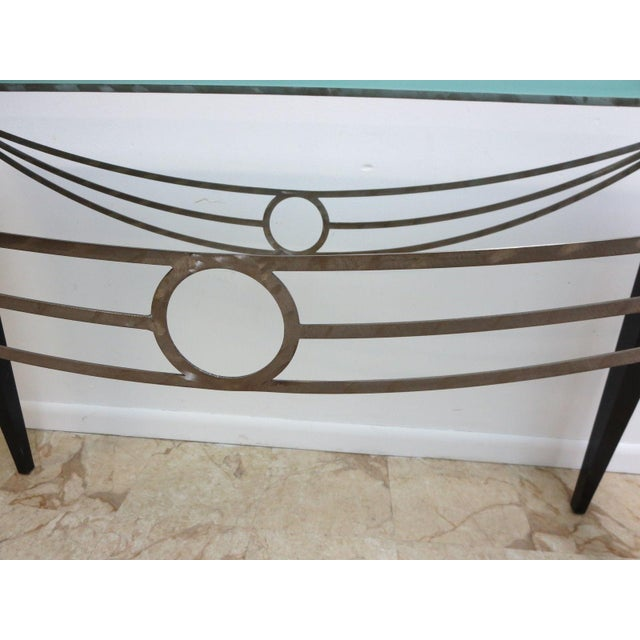 Neo Classical Metal Draped Federal Sofa Hall Foyer Table Server Console For Sale In Philadelphia - Image 6 of 11