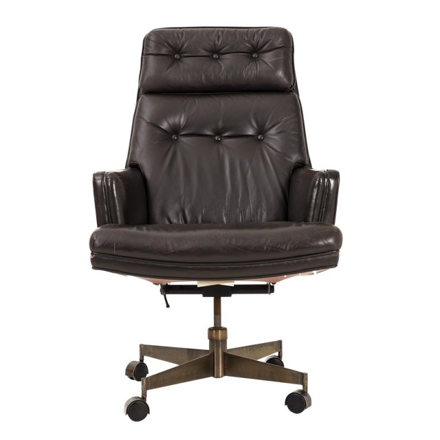 Edward Wormley Executive Swivel Chair For Sale