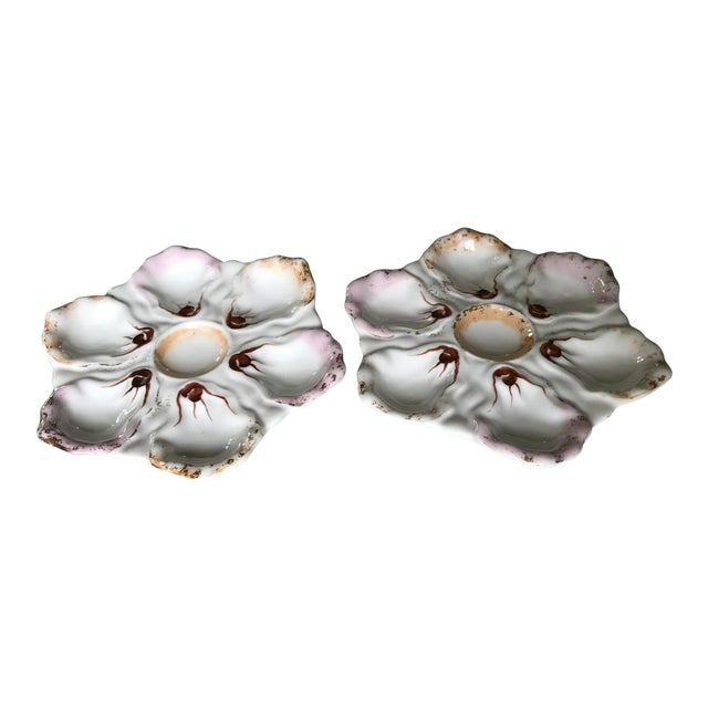 Austrian Oyster Plates - A Pair For Sale