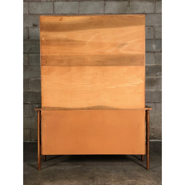 Mid-Century Modern China Cabinet / Bookcase / Display Case - Image 5 of 11
