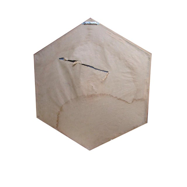 Glass 1970s Modern Greg Copeland Honeycomb Paper Sculpture Mirror For Sale - Image 7 of 9