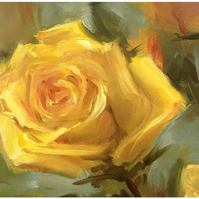 Oil Painting of Yellow Roses by Yana Golikova - Image 2 of 2