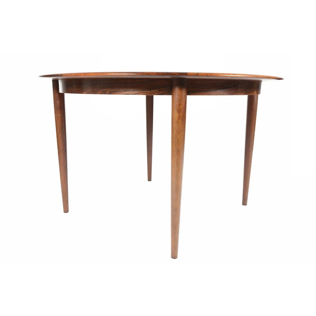 Rosewood Circular Dining Table With Two Leaves - Image 4 of 10