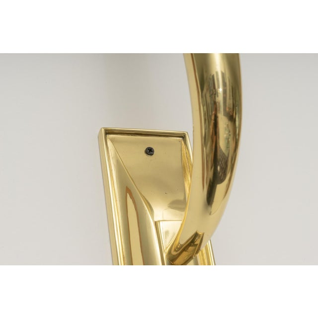 Art Deco Brass Sconces - a Pair For Sale In West Palm - Image 6 of 13