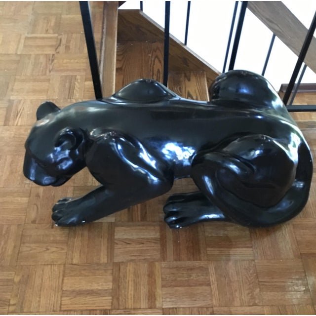 Hollywood Regency Black Panther Coffee Table Circa 1970's For Sale - Image 3 of 5