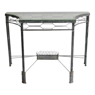 Modern Demilune/Console Metal Table