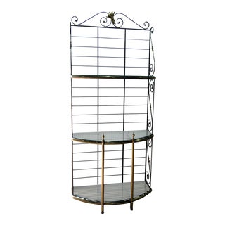Mid 20th Century French Regency Style Iron Baker's Rack