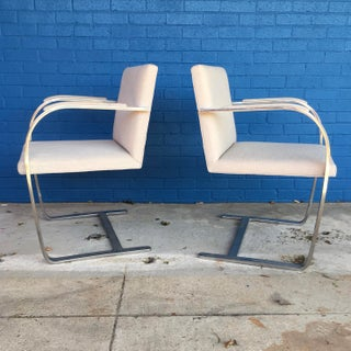 Vintage Mid Century Mies Van Der Rohe for Knoll Flat Bar Brno Chairs- A Pair Preview