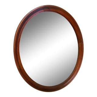 Antique Solid Wood Kling Mahogany Mirror For Sale