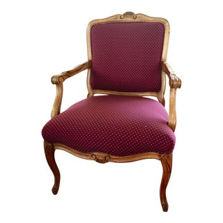 1980s Vintage French Fauteuils English Armchair For Sale