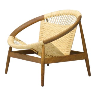 Illum Wikkelsø Ringstol Lounge Chair Denmark 1950s For Sale