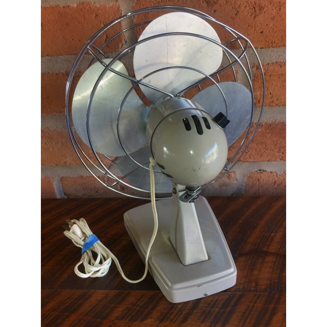 Sears Vintage Mid-Century Sears Electric Table Fan For Sale - Image 4 of 7
